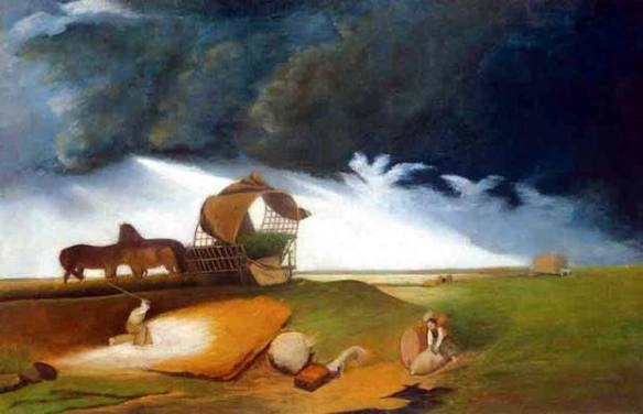 Storm - One of Csontvary's earliest paintings
