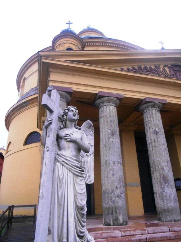 A Moment of Fascination - Angel outside Saint Anna's Church in Esztergom