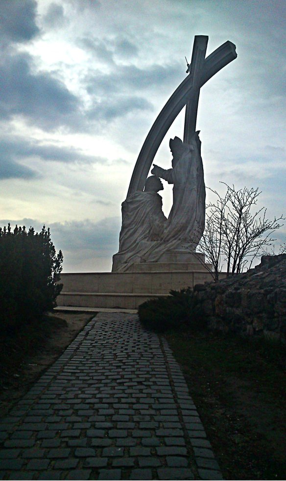 Coronation Statue on Castle Hill in Esztergom