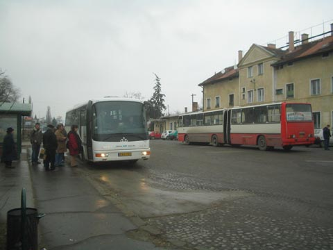 Nowhere In Particular - Bus picking up passengers in Esztergom