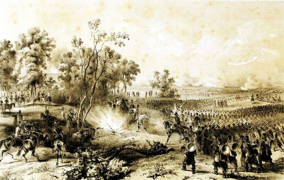 The Fight For Supremacy - Austrian and Hungarian troops fighting at Szeged in 1849
