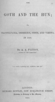 Written Into History - The Goth and The Hun by A.A. Paton