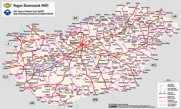Endless possibilities - Railway map of Hungary