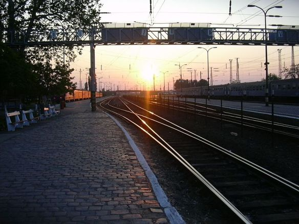 The Steel Trail - Rail lines at Cegled Station