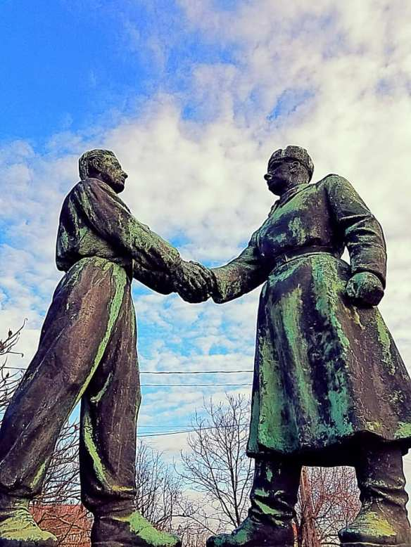 Shaking Hands & Fists- Hungarian-Soviet Friendship Memorial