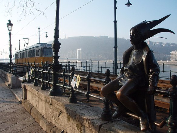 Catching A Ride - The Little Princess & Tram 2 in Budapest