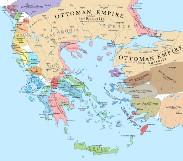 Building an Empire - Ottoman & Byzantine Imperial Territory in 1410
