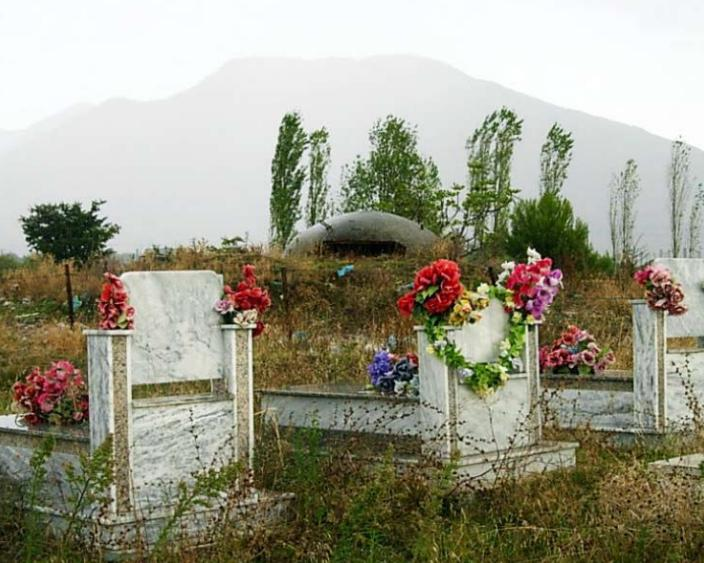 Getting defensive - Concrete bunker in an Albanian cemetery