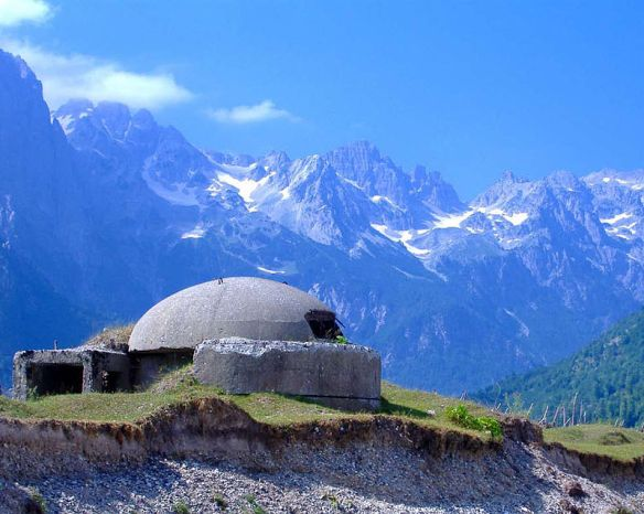 Scene stealer - Bunker in the Albanian Alps at Velbona