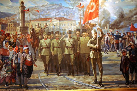 The entry of the Turkish Army into Izmir (Smyrna)