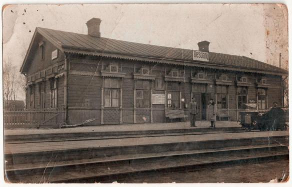 Pilsudski's & Poland's Past - Bezdany Train Station in the early 20th century