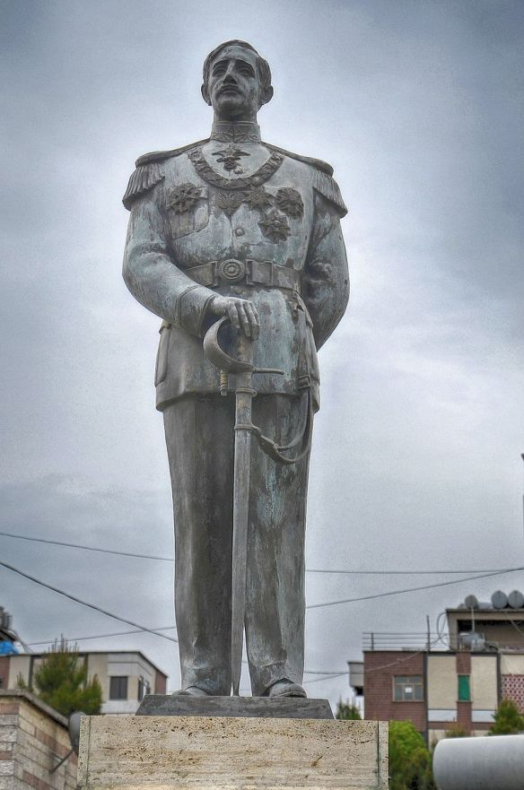 Bulletproof - Statue of King Zog in Burrel Albania