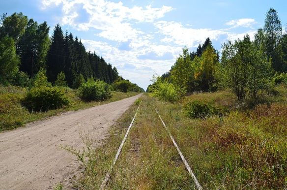 Steel Will - Stretch of the old Warsaw to St. Petersburg railway line in Lithuania today