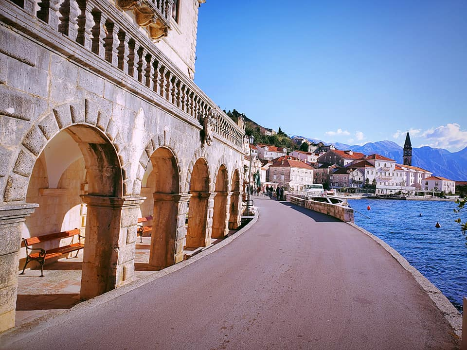 An Ideal Image - Waterfront road through Perast