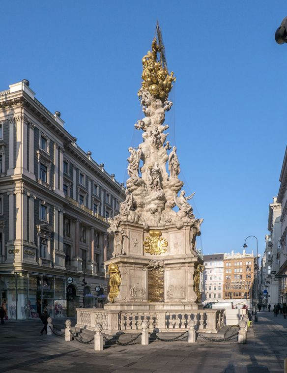 A Show of Mercy - Pestsaule (Plague Column) on the Graben in Vienna