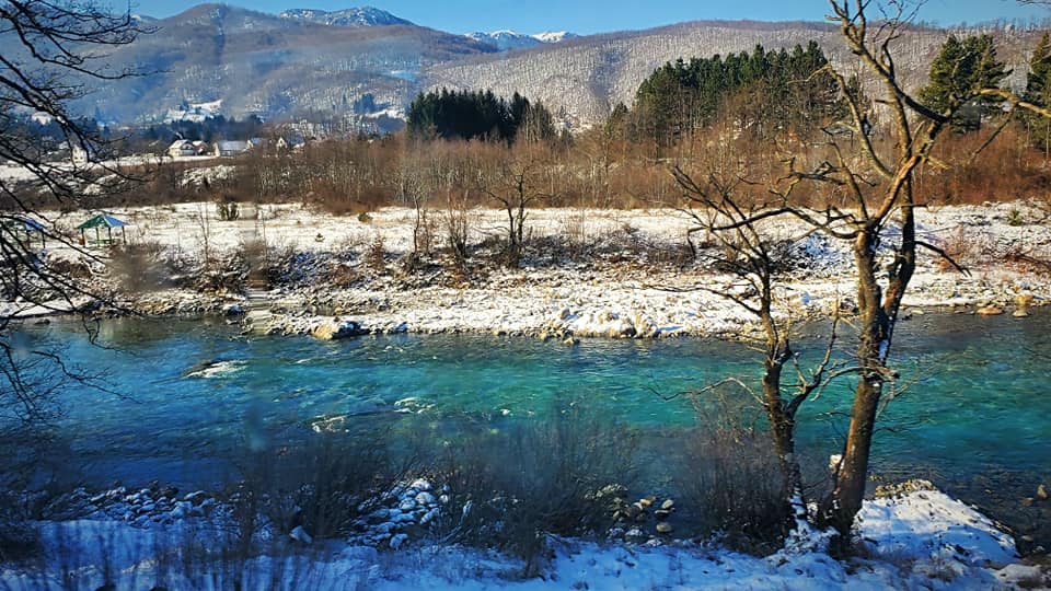 Off the Grid - A river in the mountains on the Bar to Belgrade Railway