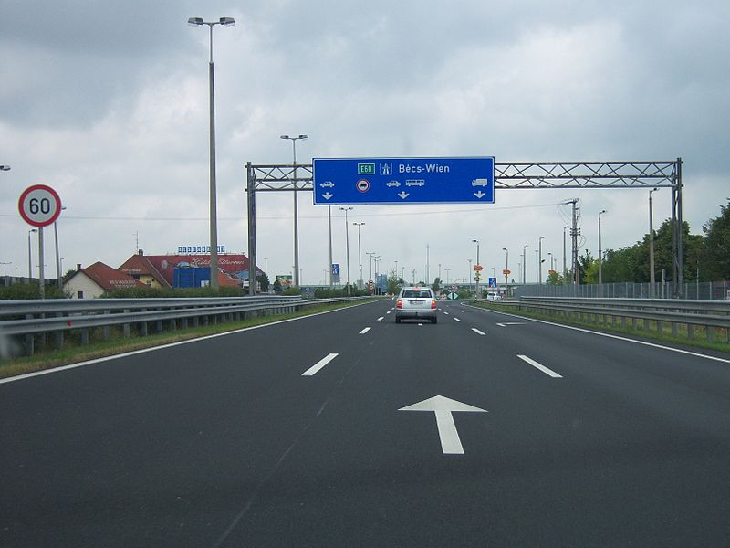 Border control - Entering Austria from Hungary