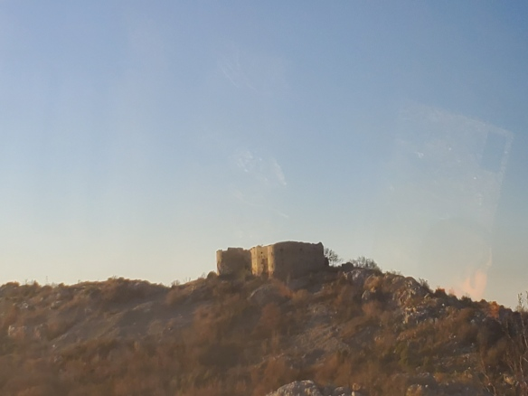 A Haunting Memory - Fort Kosmac from the bus window