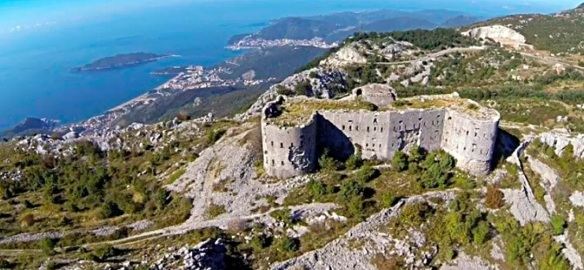 On the Edge - Fort Kosmac with Budva and the Adriatic Sea in the distance